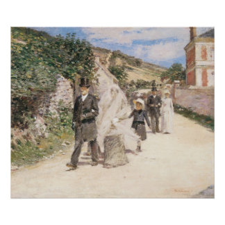 The Wedding March by Theodore Robinson Newlyweds Print