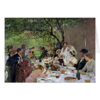The Wedding Meal at Yport, 1886 Card