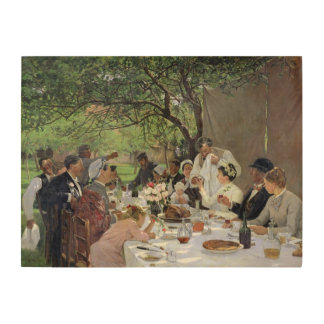 The Wedding Meal at Yport, 1886 Wood Print
