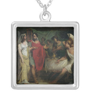 The Wedding of Alexander the Great  and Roxana Silver Plated Necklace