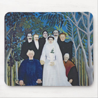 The wedding party, c.1905 mouse mat
