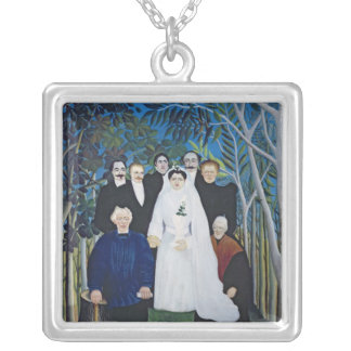 The wedding party, c.1905 silver plated necklace