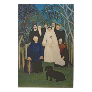 The wedding party, c.1905 wood wall art