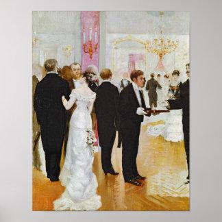 The Wedding Reception, c.1900 Poster