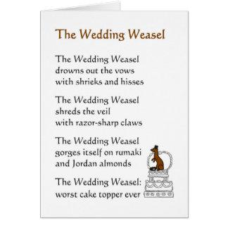 The Wedding Weasel - a funny wedding poem Greeting Card