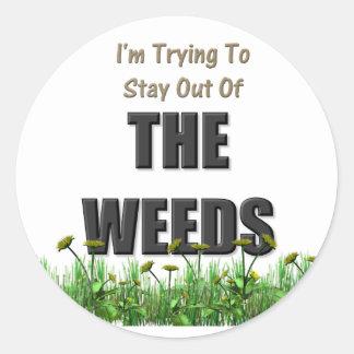The Weeds Round Sticker