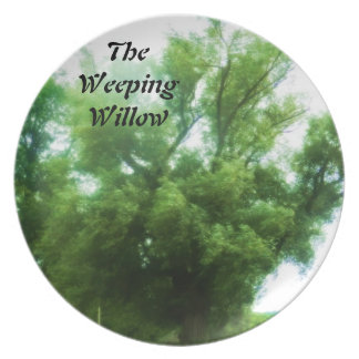 THE WEEPING WILLOW TREE plate