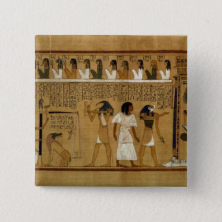 The Weighing of the Heart against Maat's Feather 15 Cm Square Badge