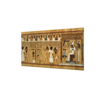 The Weighing of the Heart against Maat's Feather Canvas Prints