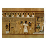 The Weighing of the Heart against Maat's Feather Greeting Card