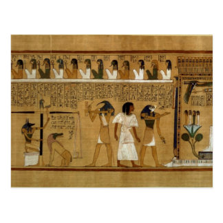 The Weighing of the Heart against Maat's Feather Postcard