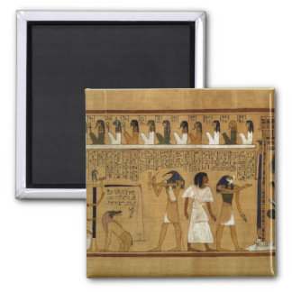 The Weighing of the Heart against Maat's Feather Square Magnet
