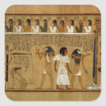 The Weighing of the Heart against Maat's Feather Square Stickers