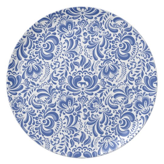 THE WEIMARANER AND THE BEE MELAMINE PLATE