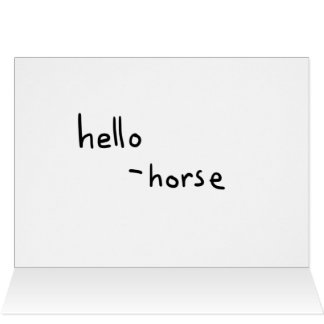 the welcome horse card