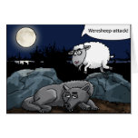 the weresheep attacks the wolf grußkarten