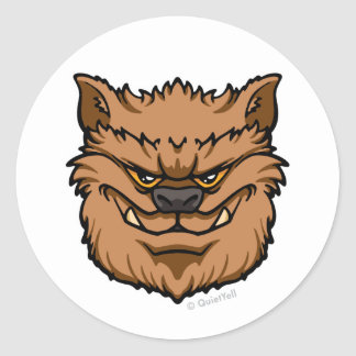 The Werewolf (Brown) Classic Round Sticker
