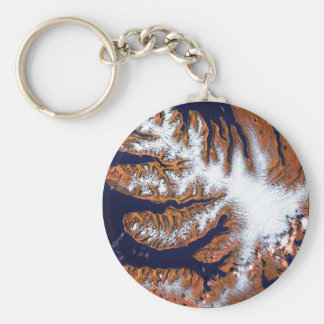 The West Fjords in Iceland Basic Round Button Key Ring