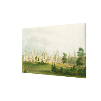 The West Front, from 'Views of the Royal Pavilion, Canvas Print