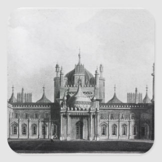 The West Front of the Brighton Pavilion Square Sticker