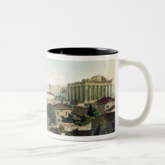 The West Front of the Parthenon, plate 19 from Par Two-Tone Coffee Mug