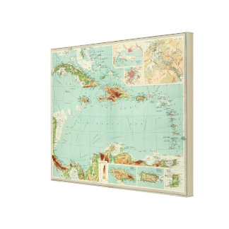 The West Indies 2 Stretched Canvas Print