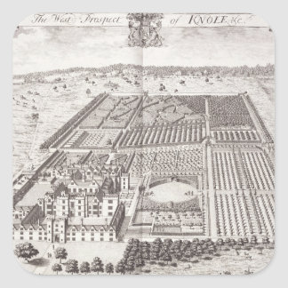 The West Prospect of Knole, from 'Thirty Six Diffe Square Sticker
