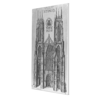 The West Prospect of the Church of St. Peter Canvas Print