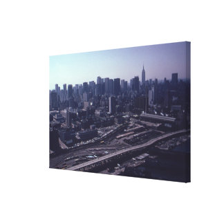 The West Side of Manhattan Photograph Gallery Wrapped Canvas