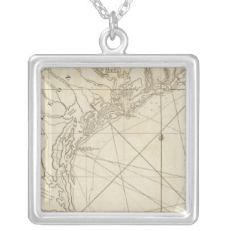 The Western Coast of Louisiana Silver Plated Necklace