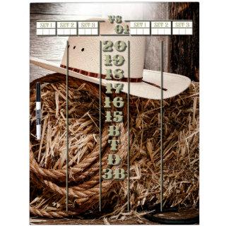 The Western Darts Scoreboard Dry Erase Board