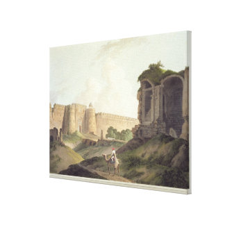 The Western Entrance of Shere Shah's Fort, Delhi, Canvas Print