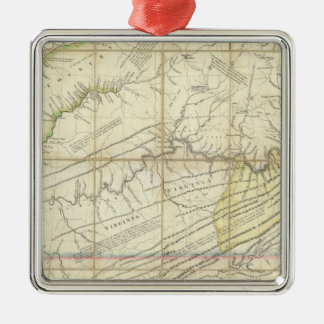 The Western Parts of Virginia, Pennsylvania Christmas Ornament