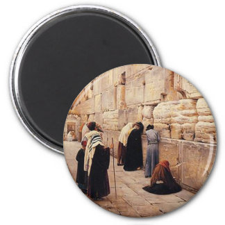 The Western Wall 6 Cm Round Magnet