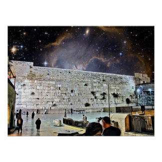 The Western Wall at Night Poster