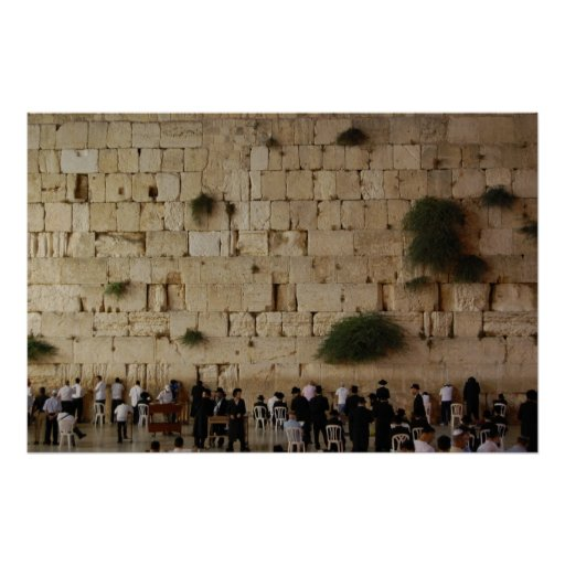 The Western Wall/Wailing Wall poster