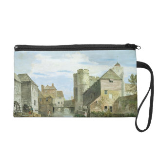 The Westgate, Canterbury (bodycolour on paper) Wristlet Clutches