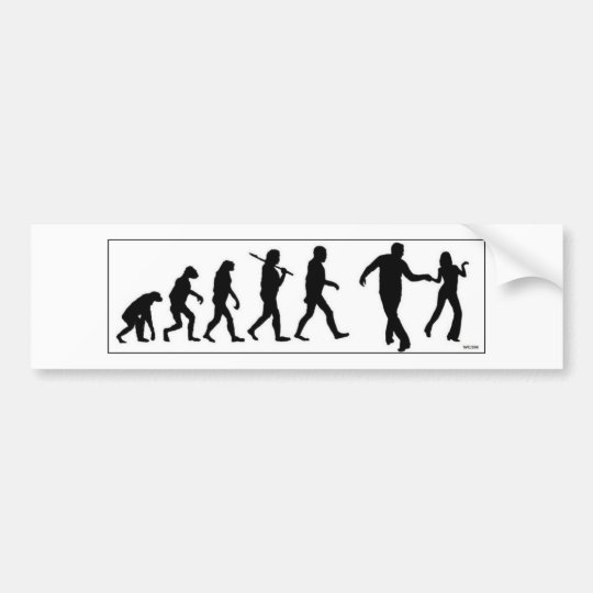 The Westie Evolution Bumper Sticker