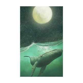 The Whale & the Moon Canvas Print