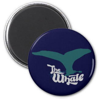 The whales 6 cm round magnet