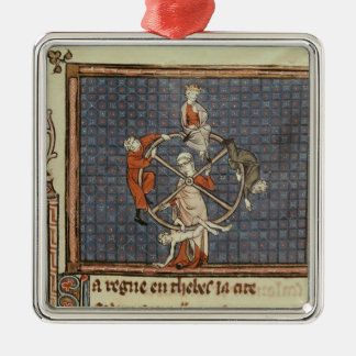 The Wheel of Fortune, from Ovide Moralise Christmas Ornament