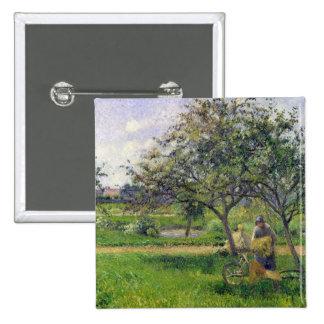 The Wheelbarrow, Orchard, c.1881 15 Cm Square Badge