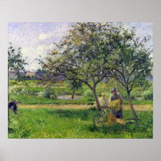 The Wheelbarrow, Orchard, c.1881 Poster