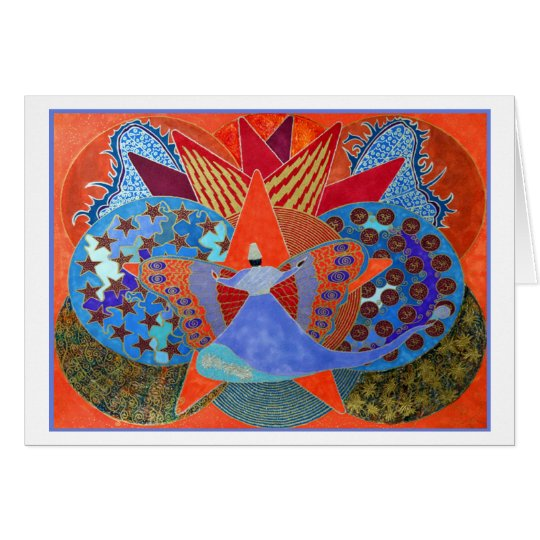 The Whirl In Butterfly Card