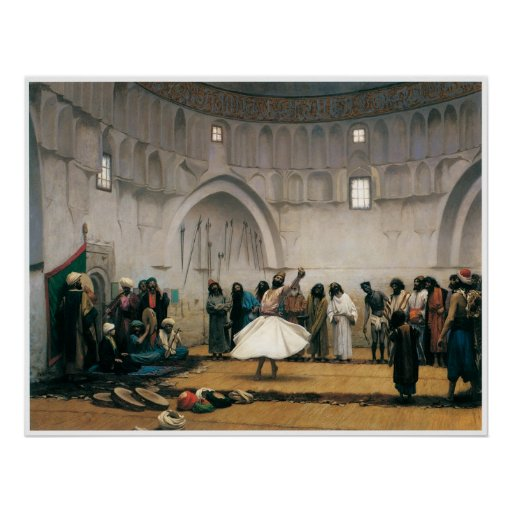 The Whirling Dervishes, 1899 Poster