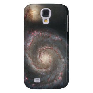 The whirlpool galaxy (M51) and companion galaxy Galaxy S4 Case