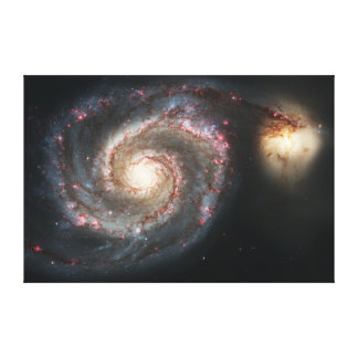 The Whirlpool Galaxy Messier 51a NGC 5194 Canvas Prints