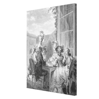 The Whist Party, 1783, engraved by Jean Dambrun (1 Canvas Print