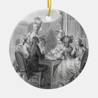 The Whist Party, 1783, engraved by Jean Dambrun (1 Christmas Ornament