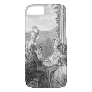 The Whist Party, 1783, engraved by Jean Dambrun (1 iPhone 8/7 Case